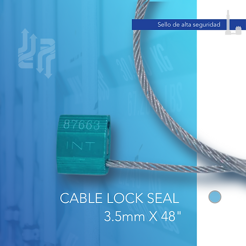 """Cable Lock Seal 3.5mm X 48"""""""