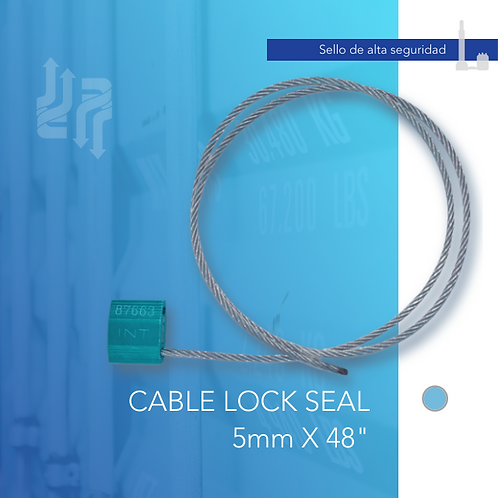 """Cable Lock Seal 5mm X 48"""""""