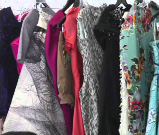 A glimpse into Iris Apfel's wardrobe as provided by another fashion interview.