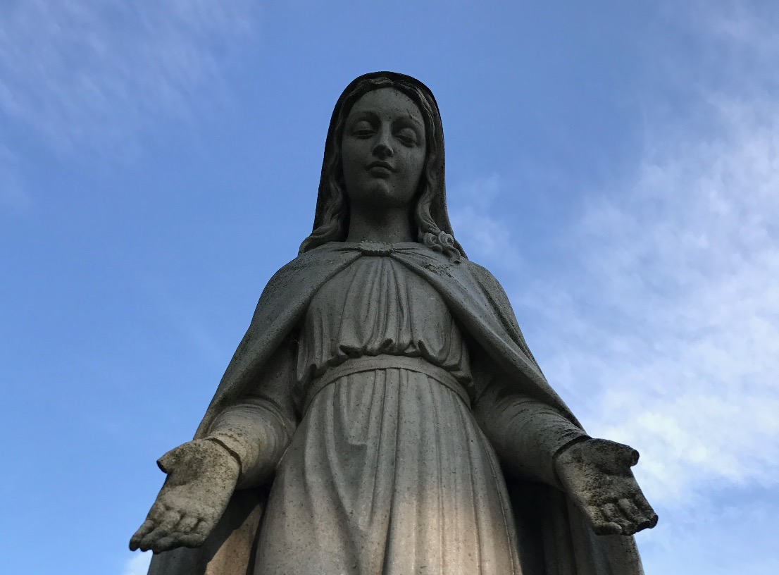 Statue of Mary, Upper Church