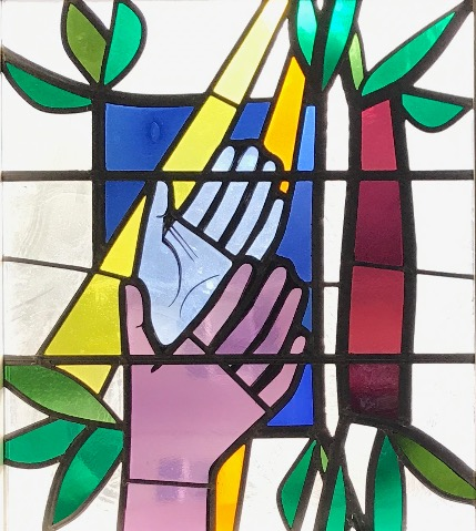 Stained Glass Window, Praying Hands
