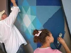 Volunteer painters