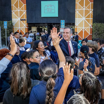Mayor Eric Garcetti at Toolbox LA's Grand Opening