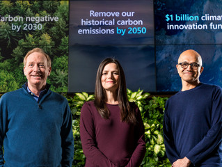 Microsoft makes 'carbon negative' pledge