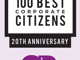 CR Magazine Announces 100 Best Corporate Citizens of 2019