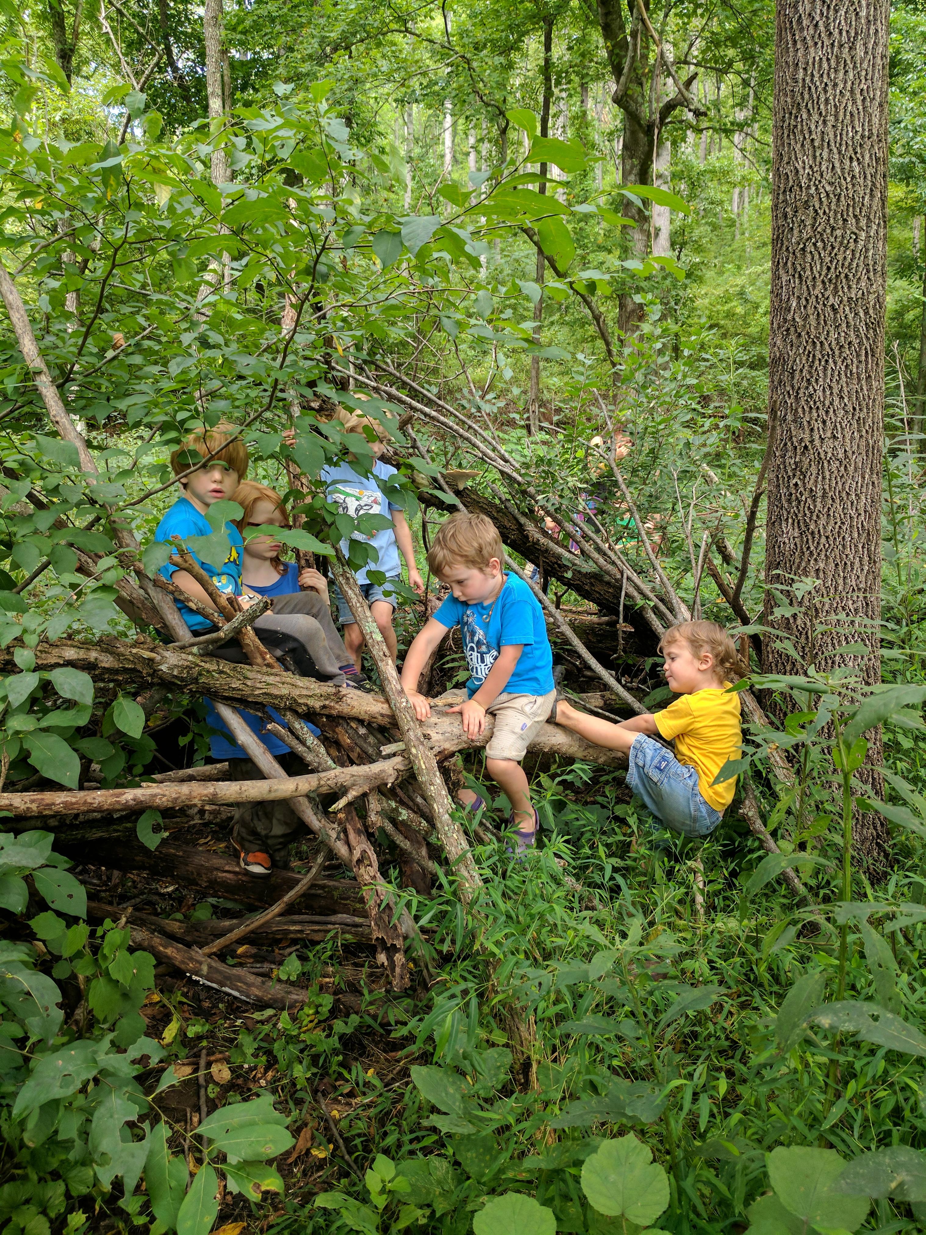 Ashevillefarmstead-kids-Fortville-forest-freeplay