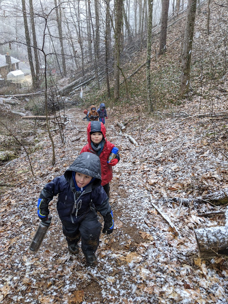 ashevillefarmstead-snow-hike-sprouts-forest-adventure