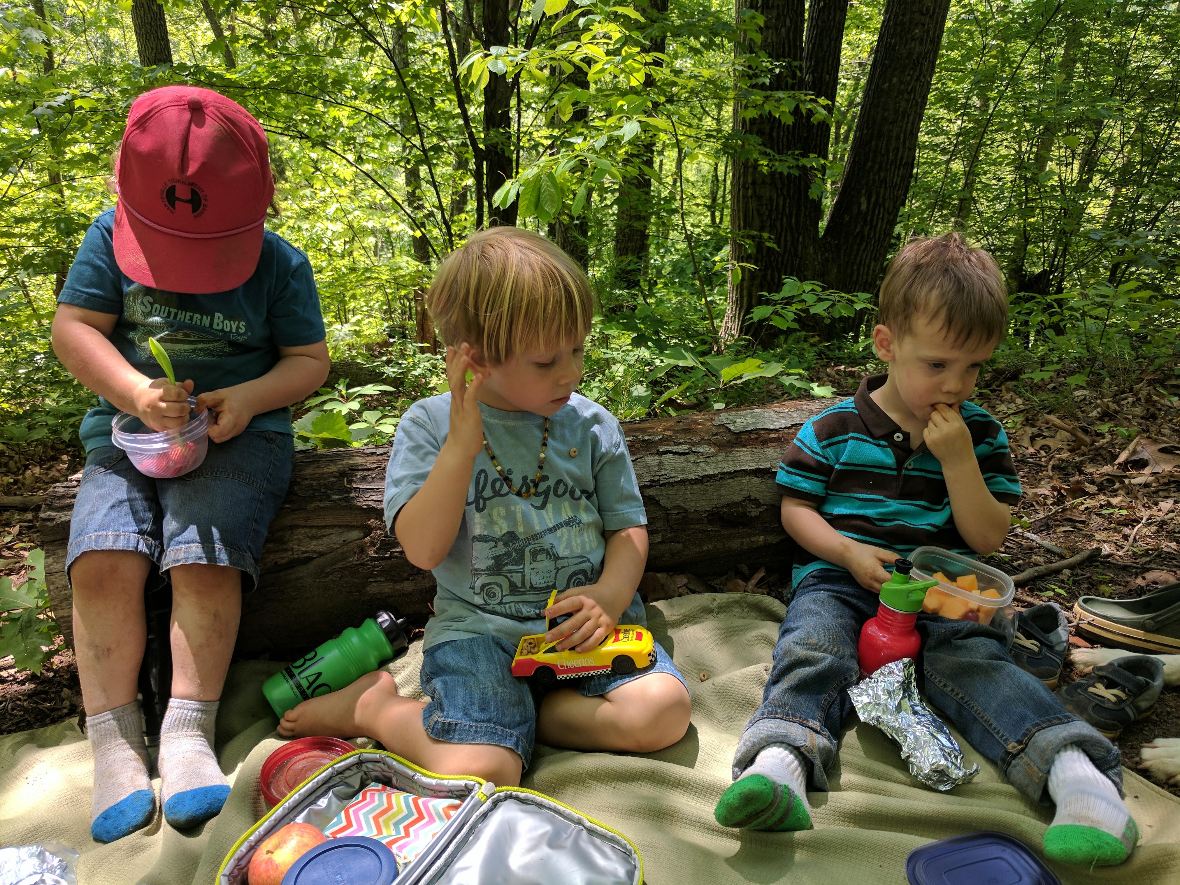 Ashevillefarmstead-kids-forest-lunch-explorers