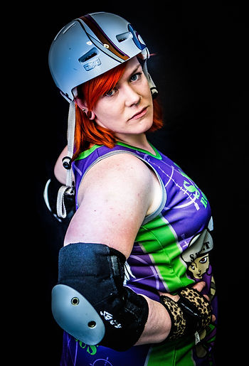 Skater with the SWAT Roller Derby Team