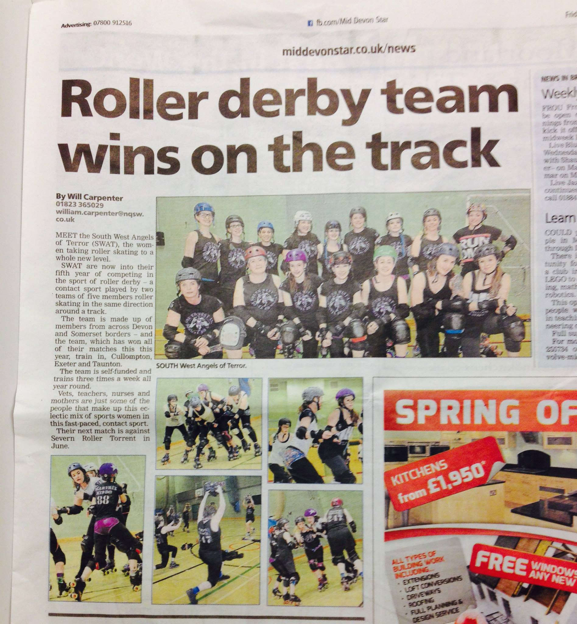 Roller derby team wins on track