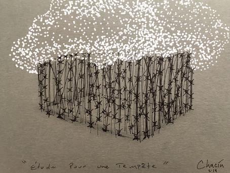 Étude Pour Une Tempête / 2019 / Ink on paper / 14,8 x 21 cm / Photo: Chacin-Art