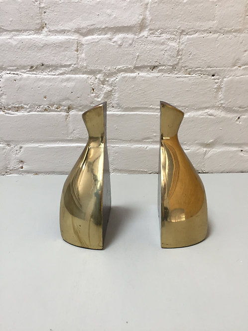 Norman Bleckner brass bookends