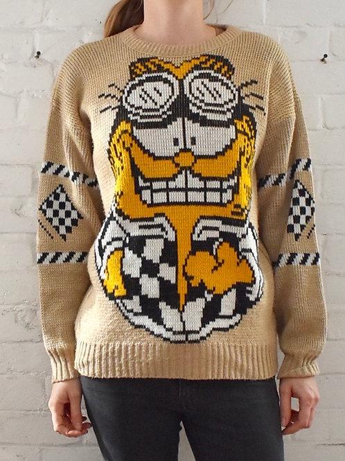 1978 Garfield Speed Demon Sweater
