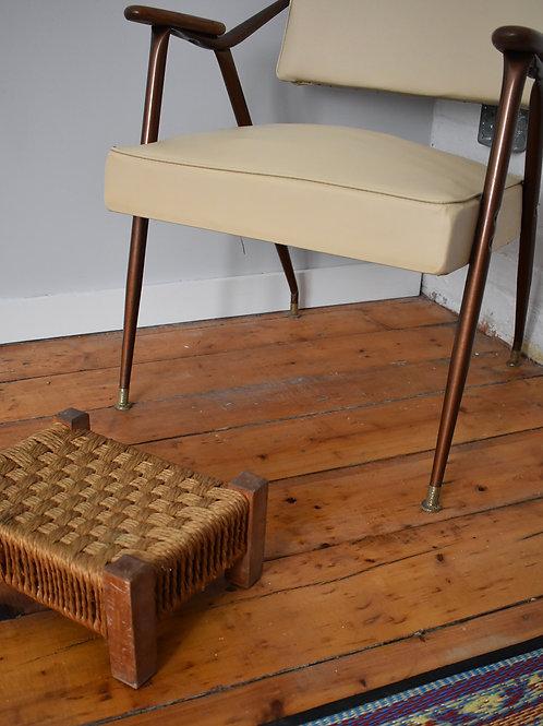 Woven foot stool