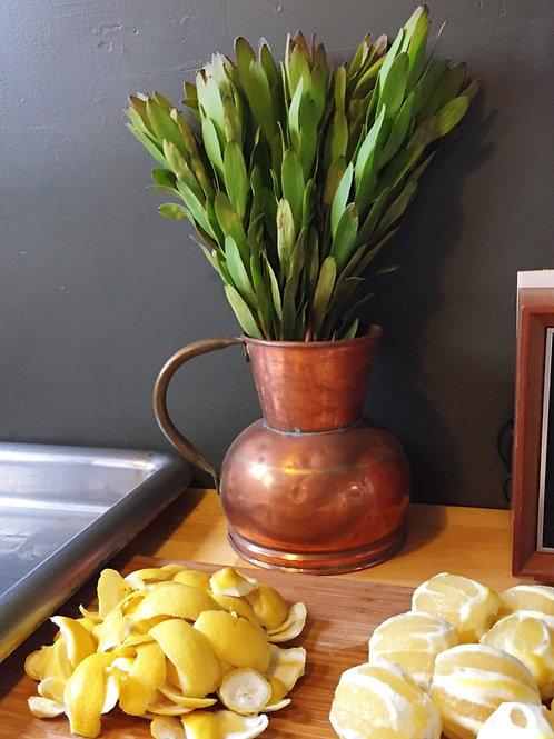 Rustic copper pitcher