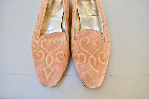Embroidered Ferragamo Loafers