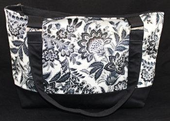 Black & White Floral Purse