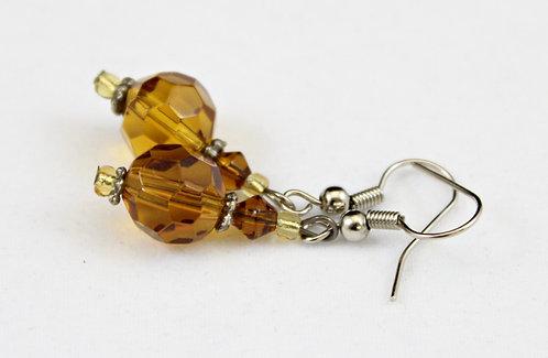 Amber Colored Drop Earrings