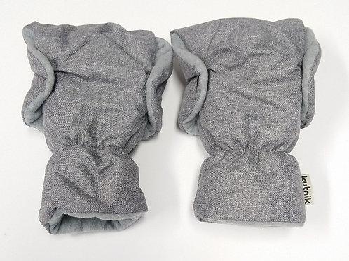 Mufka rękawica z polarkiem do wózka