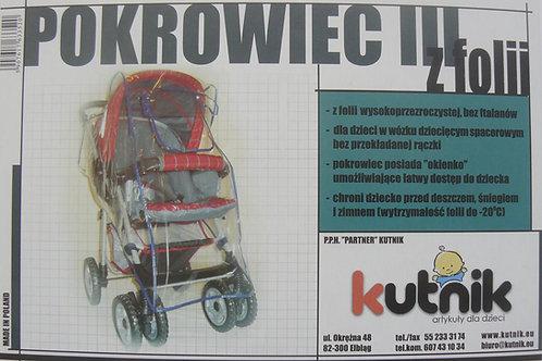 Pokrowiec przeciwdeszczowy na wózek model III