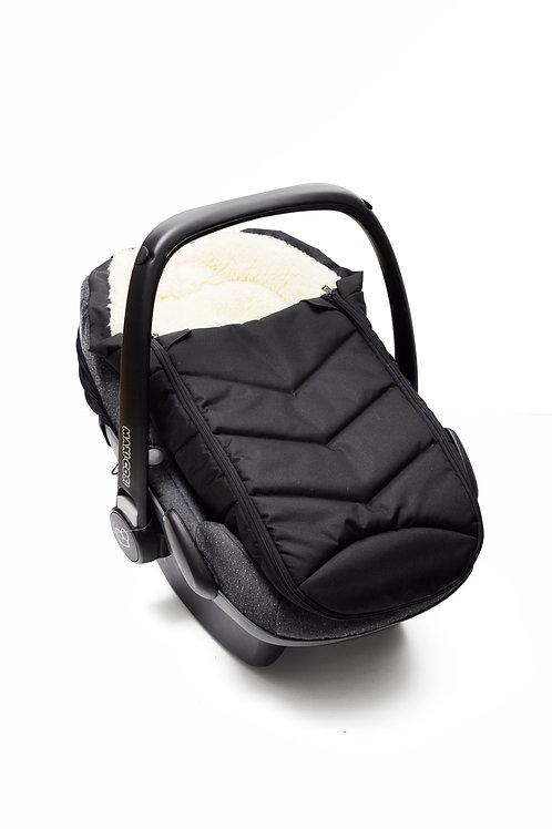 Śpiworek niemowlęcy do 70cm do fotelika samochodowego typu kołyska (Baranek)