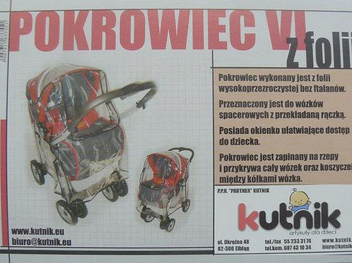 Pokrowiec przeciwdeszczowy na wózek model VI