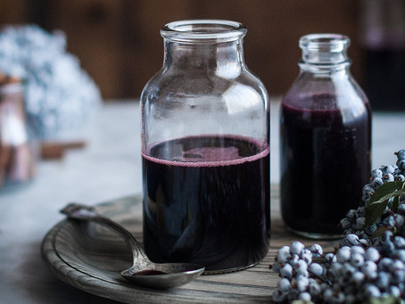 Immune support with whole-foods: Elderberry syrup