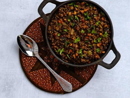 Quinoa Lentil Stuffing Recipe
