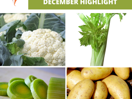 Set your table with veggies! December seasonal vegetables