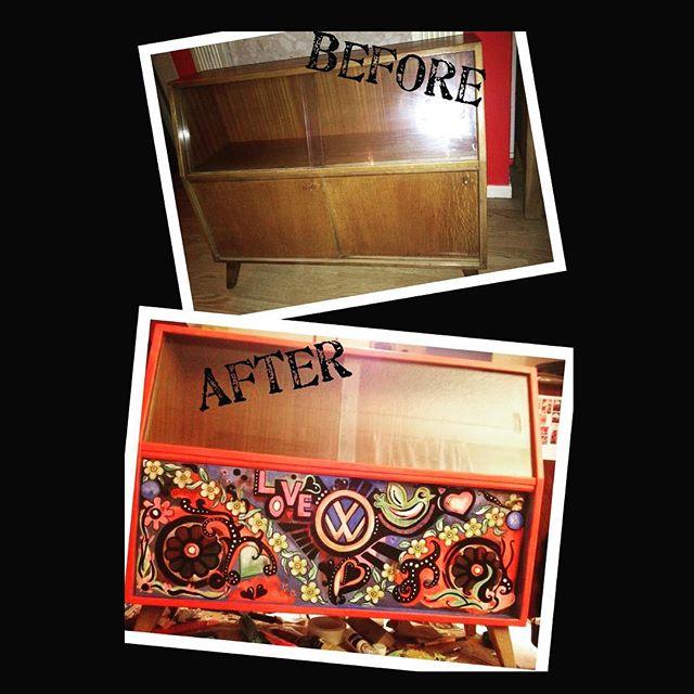 #retro #furniture #handpainted #upcycled #bespoke #vwcampervan #campervan #vintage #70's #1970s #flo