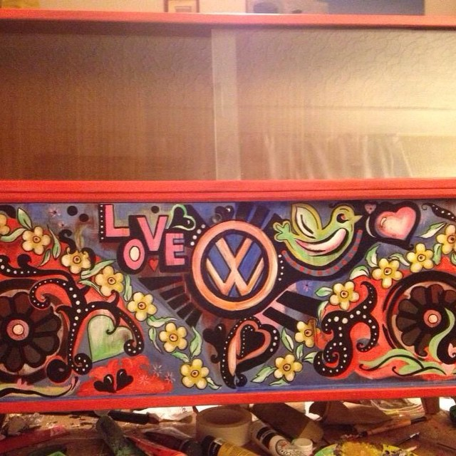 My #upcycled #VW #vintage cabinet ... Rejenerate with lurrrve .