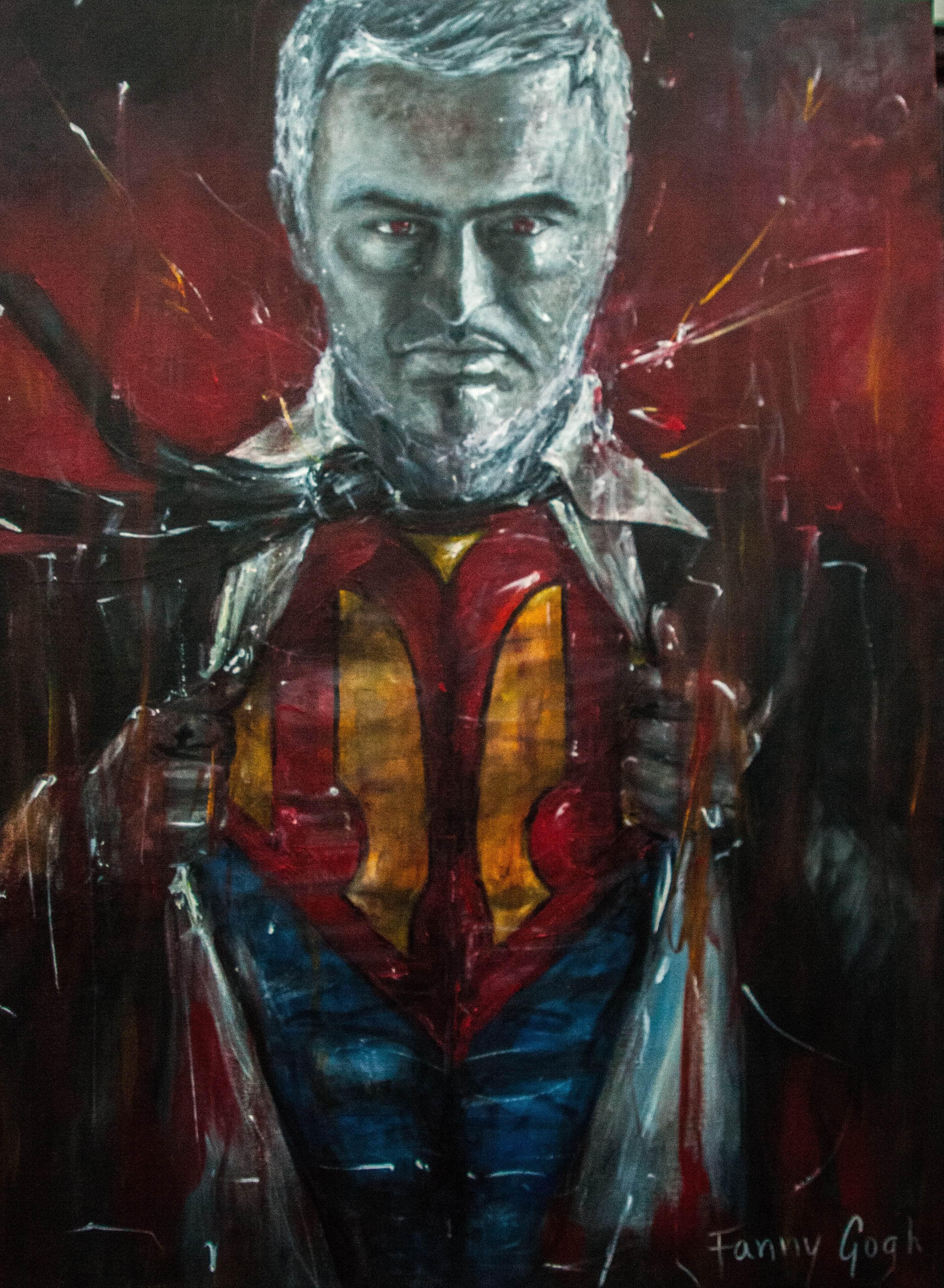 Mourinho as Superman 'Super Manager'