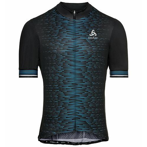 Men's ODLO Zeroweight Ceramicool Full-Zip Short-Sleeve Cycling Jersey