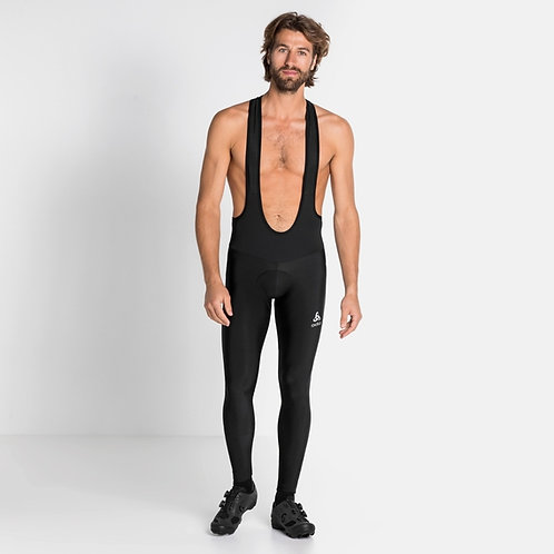 Men's ODLO Zeroweight Ceramiwarm Cycling Tights w/ Suspenders