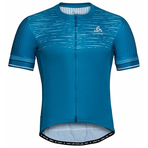 Men's ODLO Zeroweight Ceramicool Pro Full-Zip Short-Sleeve Cycling Jersey