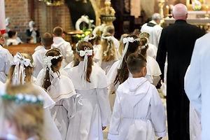 Kinderen bij de Eerste Heilige Communie