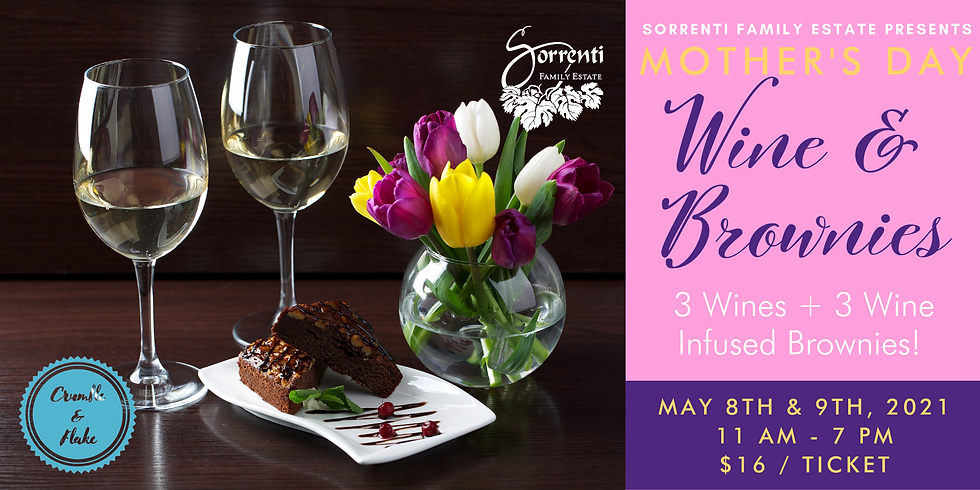 Mother's Day Wine & Brownies