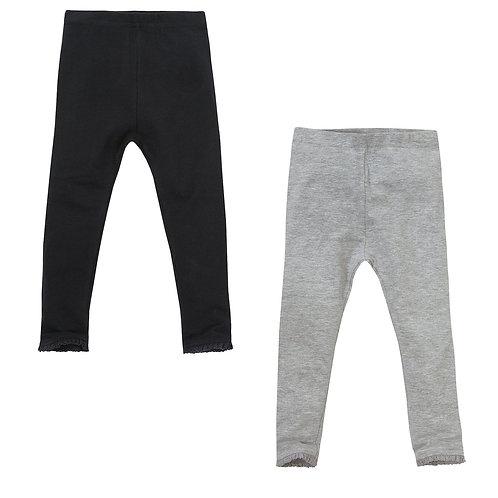 2 Pack Leggings -Black & Grey