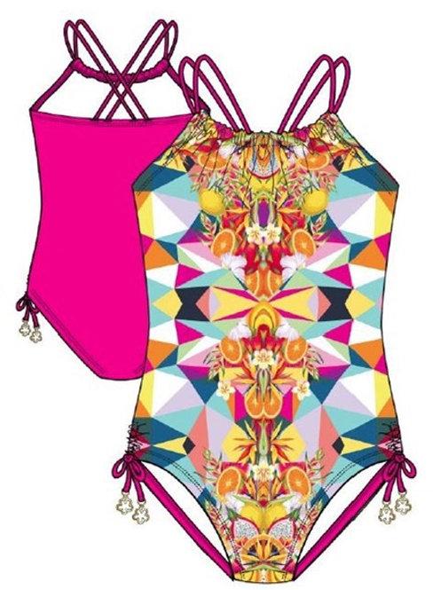 Tropical Kaleidoscope One-Piece Swimsuit