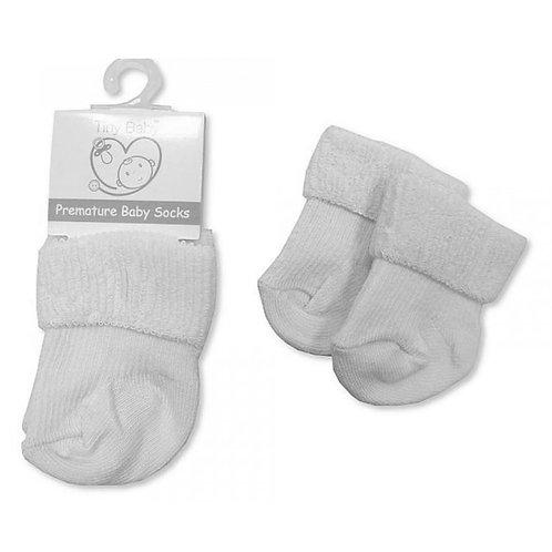 Premature Baby Soft White Socks