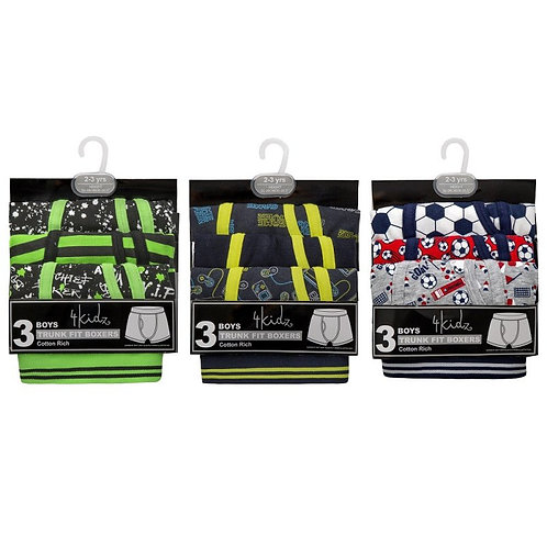 3 Pack Printed Boxer Shorts