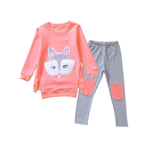 Cute Fox Applique Set