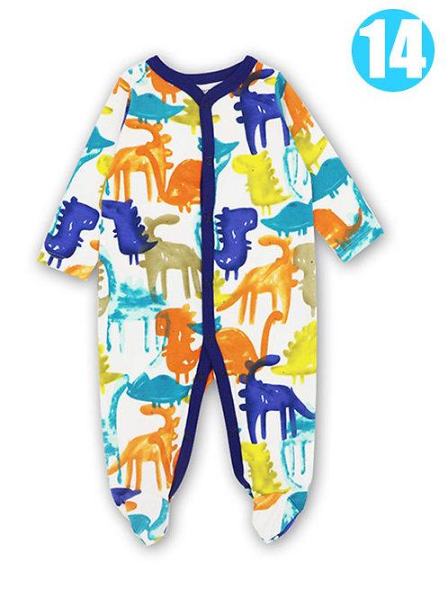Colorful Dino Sleeper (0-12M)