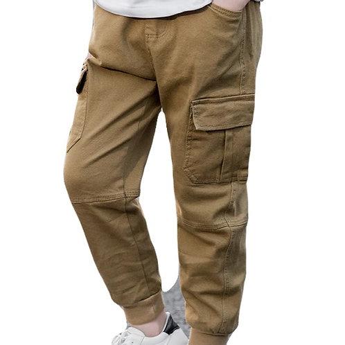 Casual Side Pocket Khaki Pants