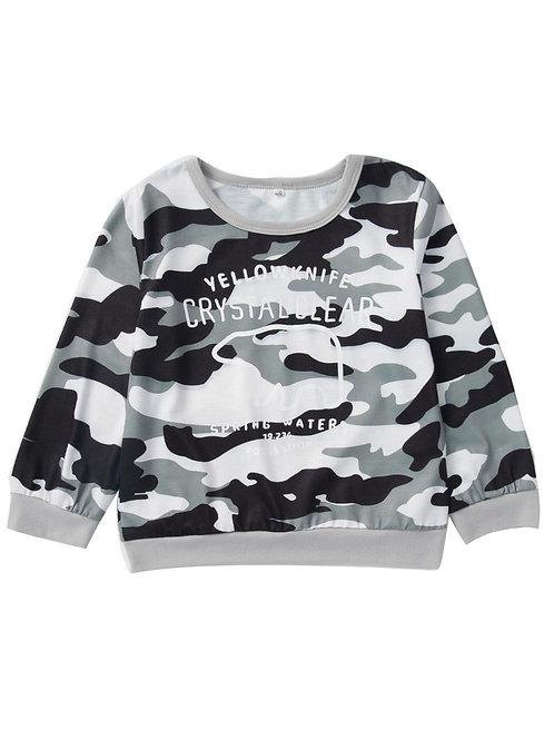 Camo Print Pullover