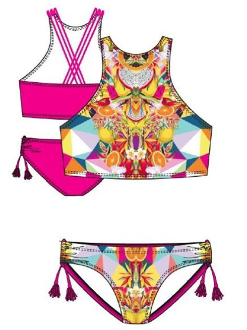 Tropical Kaleidoscope Two-Piece Swimsuit