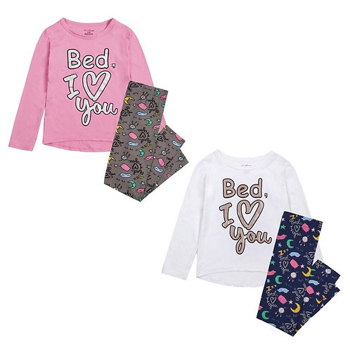 'Bed I Love You' Pajama Set