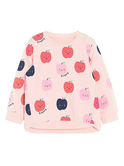 Apple Print Sweat Top