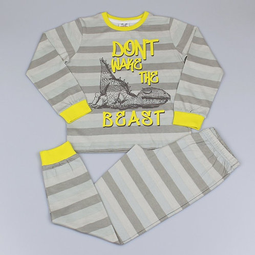 'The Beast' Striped Pajama Set