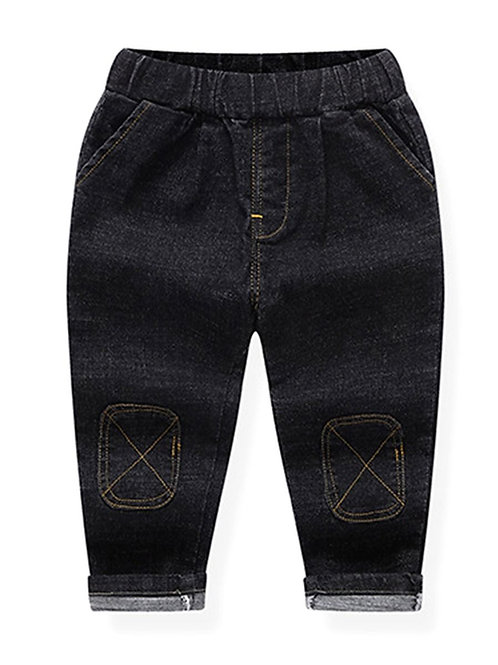 Black X Patch Jeans